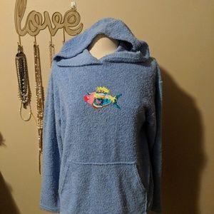 Tops - Fish Terry Sweatshirt Size Medium